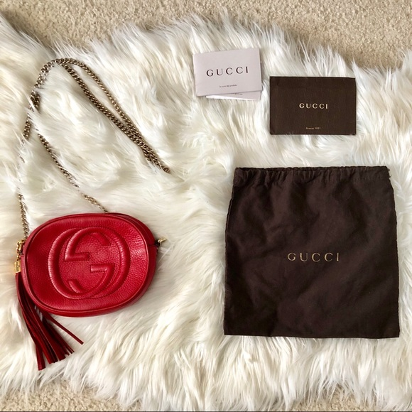 Gucci Handbags - Red Small Gucci Soho Crossbody Bag